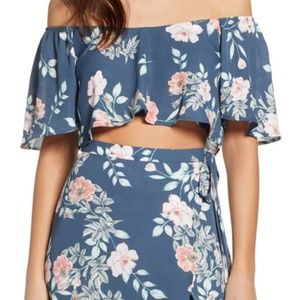 NWT Leith Flutter Floral Crop Top Size Small